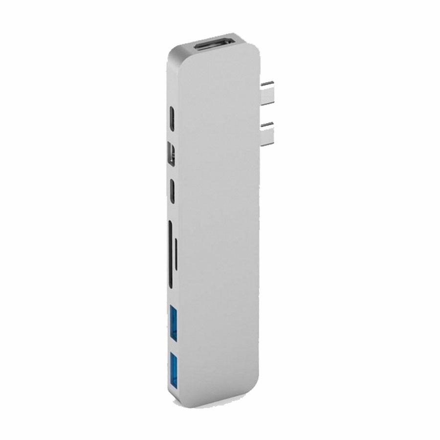 Купить Хаб (адаптер) HyperDrive PRO 8-in-2 USB-C 4K30Hz HDMI для MacBook Pro | Air Silver