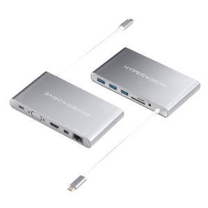 Купить Хаб (адаптер) HyperDrive Ultimate 11-in-1 USB-C PD 4K30Hz HDMI для MacBook | iPad Silver
