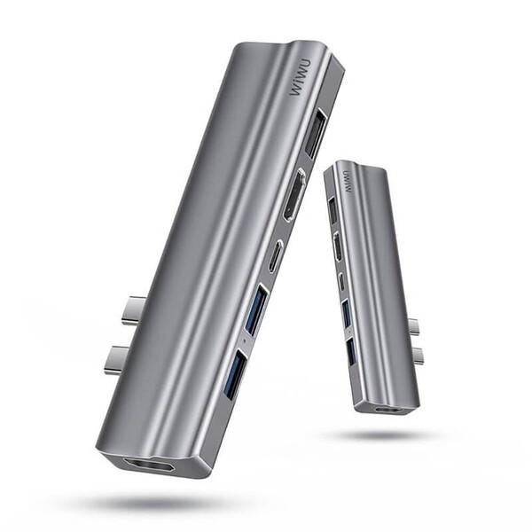 Хаб USB-C для MacBook Pro | Air Wiwu T9 8 в 2