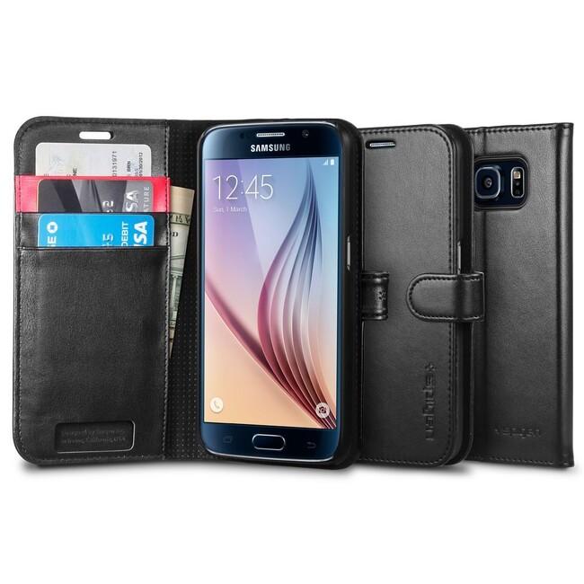 Чехол Spigen Wallet S Black для Samsung Galaxy S6