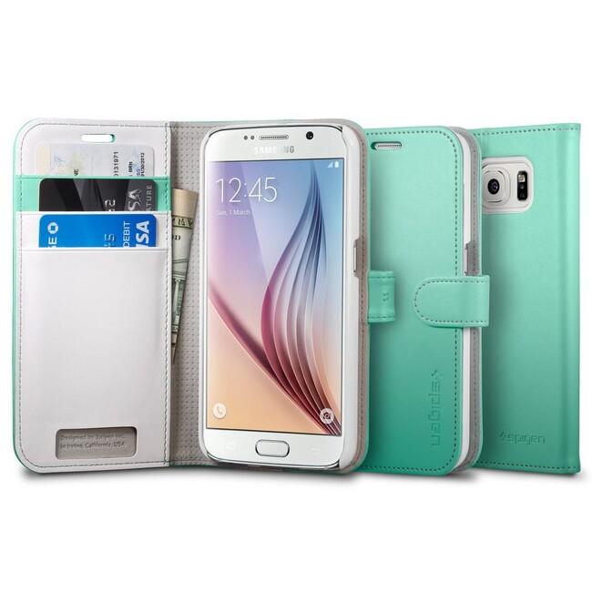 Чехол Spigen Wallet S Mint для Samsung Galaxy S6