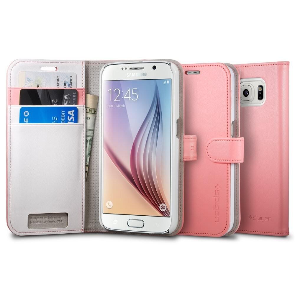 Чехол Spigen Wallet S Azalea Pink для Samsung Galaxy S6