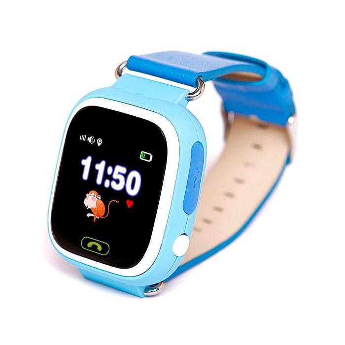 Детские часы-телефон с GPS трекером Q90 Blue Купить в Киеве - iLounge c3e6500828fa6