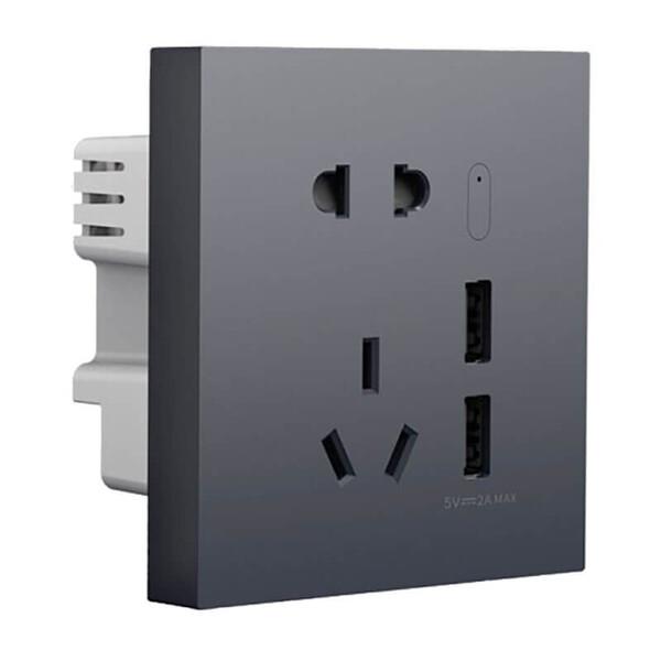 Умная Wi-Fi розетка Aqara Smart Socket H1 USB, ZigBee 3.0 2USB HomeKit