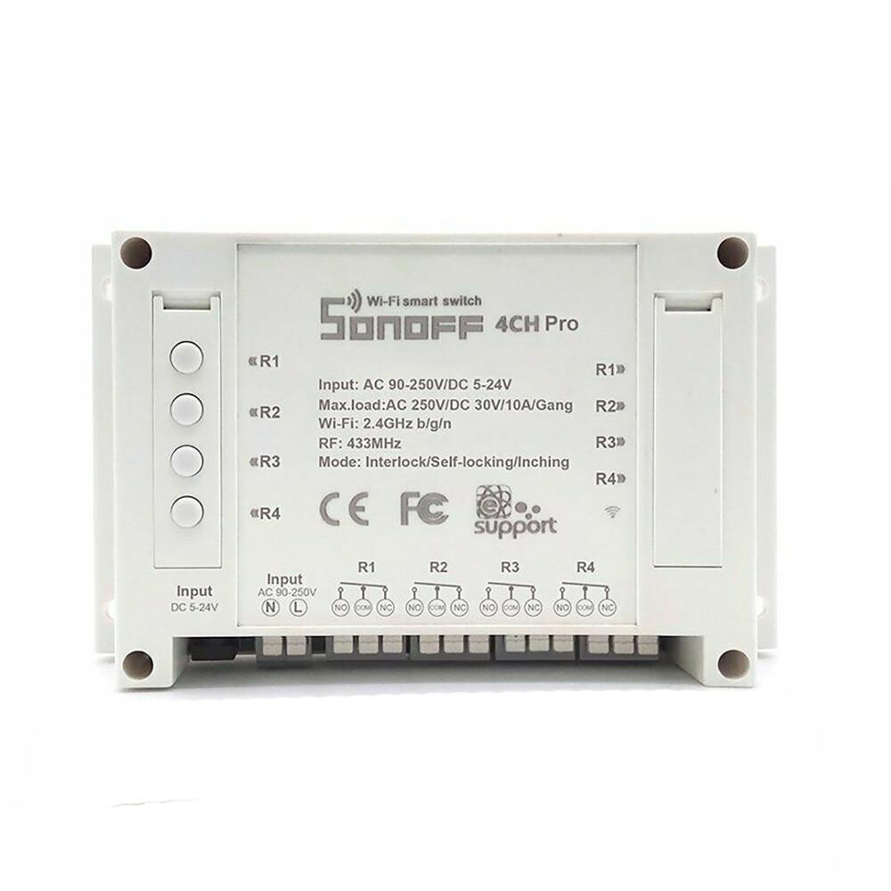 Купить Умный Wi-FI выключатель | реле HomeKit Sonoff 4CH PRO R3