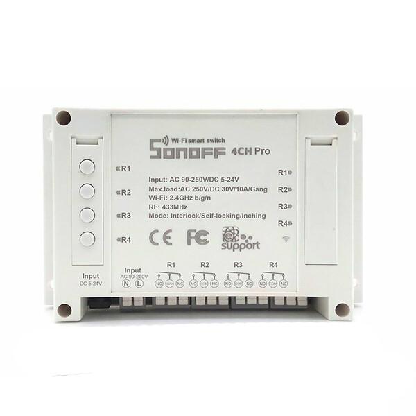 Умный Wi-FI выключатель | реле HomeKit Sonoff 4CH PRO R3