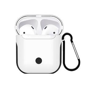 Купить Пластиковый чехол с карабином WIWU Armor White для Apple AirPods