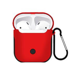 Купить Пластиковый чехол с карабином WIWU Armor Red для Apple AirPods