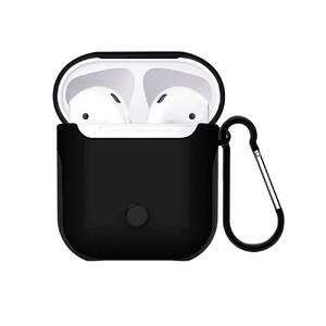Купить Пластиковый чехол с карабином WIWU Armor Black для Apple AirPods