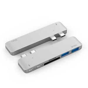 Купить Алюминиевый концентратор WIWU H2 Type C Hub Silver