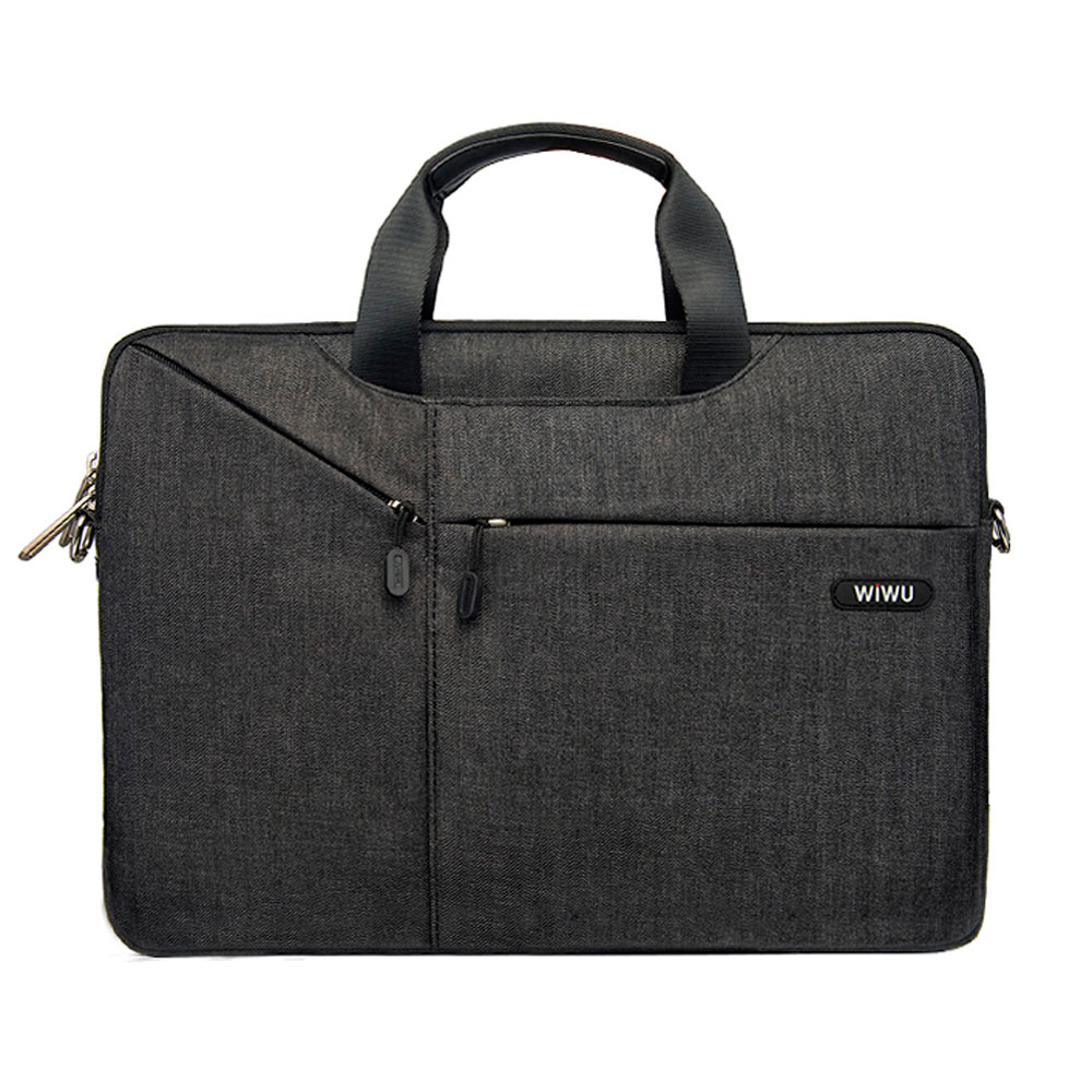 Купить Нейлоновая сумка WIWU GearMax City Commuter Bag Black для MacBook Pro 13"