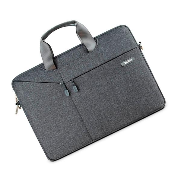 """Нейлоновая сумка WIWU GearMax City Commuter Bag Grey для MacBook Pro 16""""   Pro 15"""""""