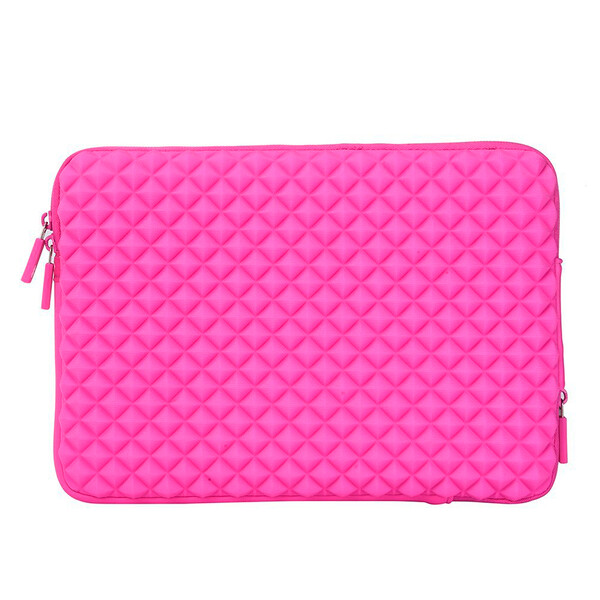 "Влагозащитный чехол-сумка WIWU GearMax Diamond Sleeve Pink для MacBook 12"" | Air 11"""