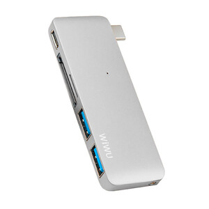 Купить Алюминиевый концентратор WIWU Type-C Hub C1 Plus Silver