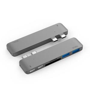 Купить Алюминиевый концентратор WIWU H2 Type C Hub Grey