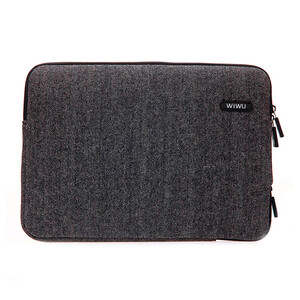 "Купить Чехол-сумка WIWU London Classic Sleeve Black для MacBook 12""/Air 11"""