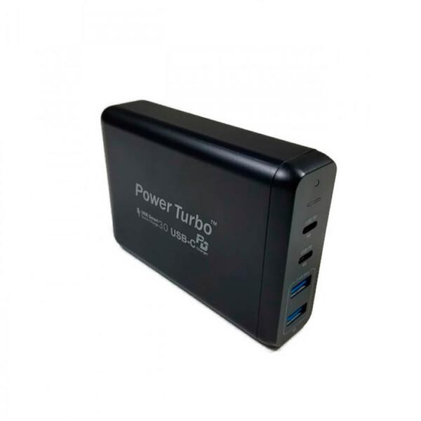 Быстрое зарядное устройство WIWU Power Turbo 4 in 1 75W (US) + EU адаптер