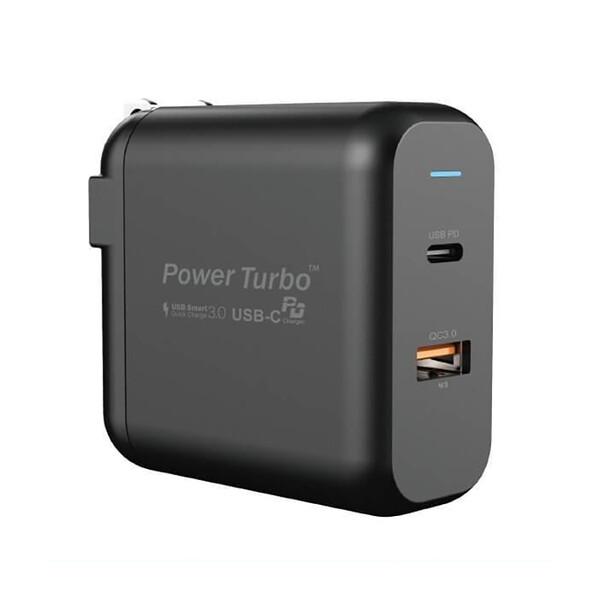 Быстрое зарядное устройство Wiwu Power Turbo Dual Port PT6021 (US) + EU адаптер