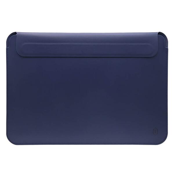 "Чехол-папка WIWU Skin Pro 2 Leather Sleeve для MacBook Air 13"" (2018-2020)   Pro 13"" (2016-2020) Navy Blue"