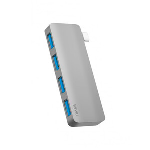 Купить Хаб WIWU T6S 4-in-1 USB-C Converter Gray