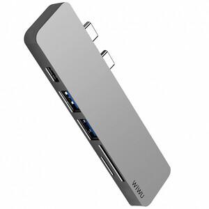 Купить Хаб WIWU T8 Lite USB Type-C Gray