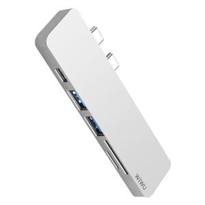 Купить Хаб WIWU T8 Lite USB Type-C Silver