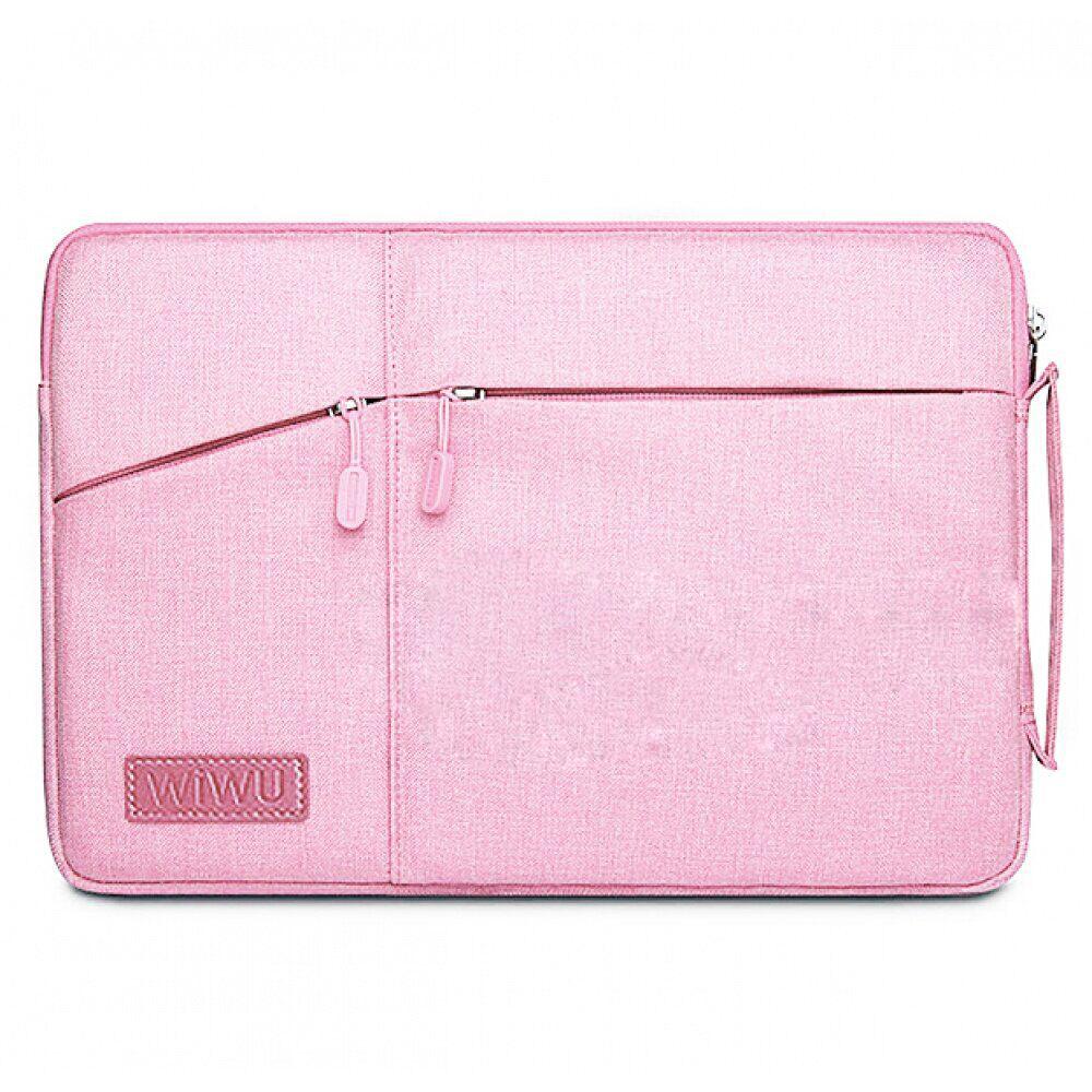 "Купить Чехол-сумка WIWU GearMax Traveler Sleeve Pink для MacBook 12"" | Air 11"""
