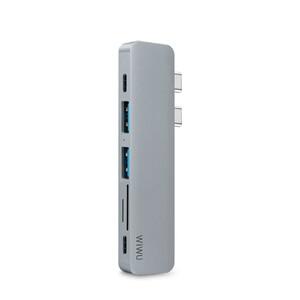 Купить Алюминиевый концентратор WIWU USB Type-C 7 in 1 Hub T8 Gray