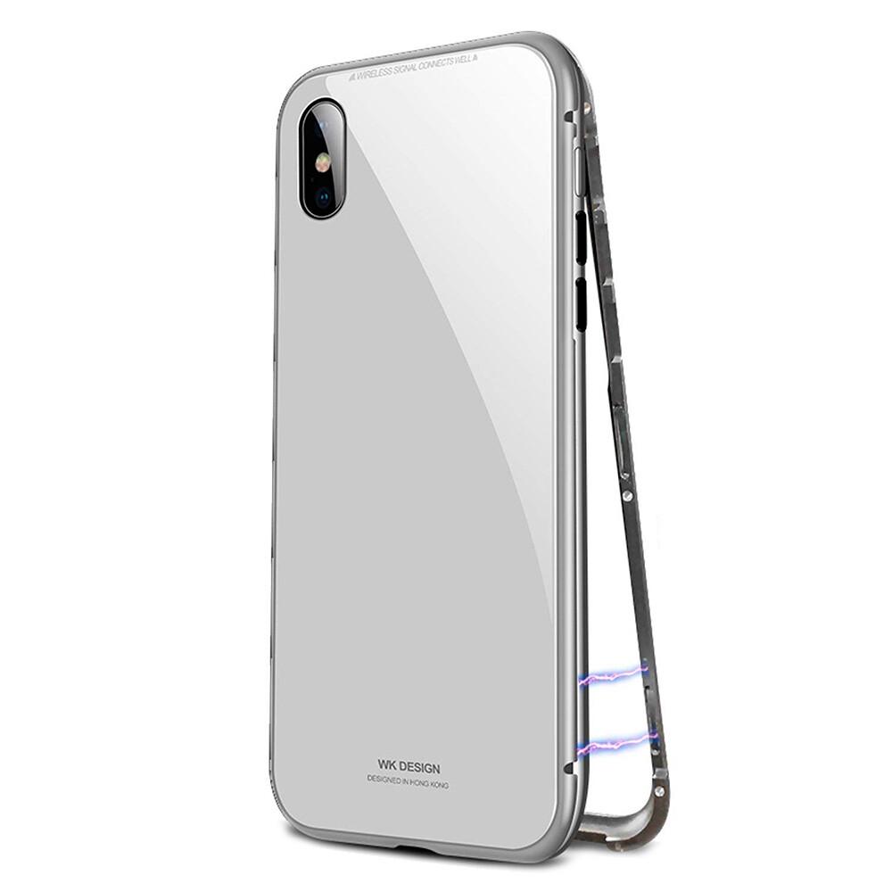 Магнитный чехол WK DESIGN Magnetic Silver для iPhone X/XS