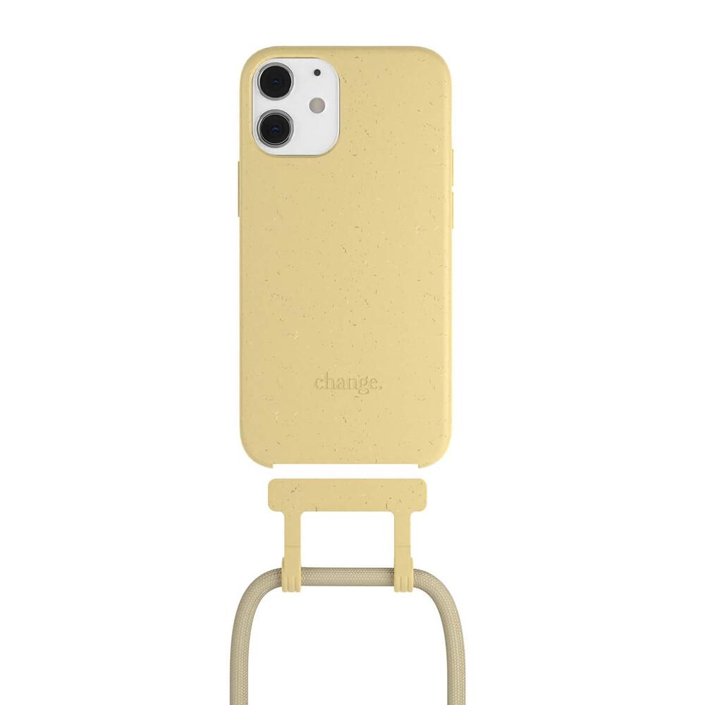 Чехол Woodcessories Necklace Bio AM Citrus Yellow для iPhone 12 mini