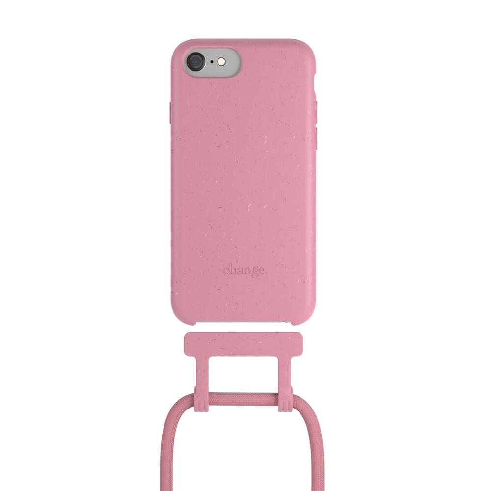 Чехол Woodcessories Necklace Bio AM Coral Pink для iPhone SE 2020   8   7   6   6s   7   8   SE 2 (2020)