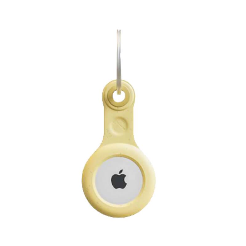 Купить Эко-брелок с кольцом Woodcessories Bio Case Citrus Yellow для AirTag