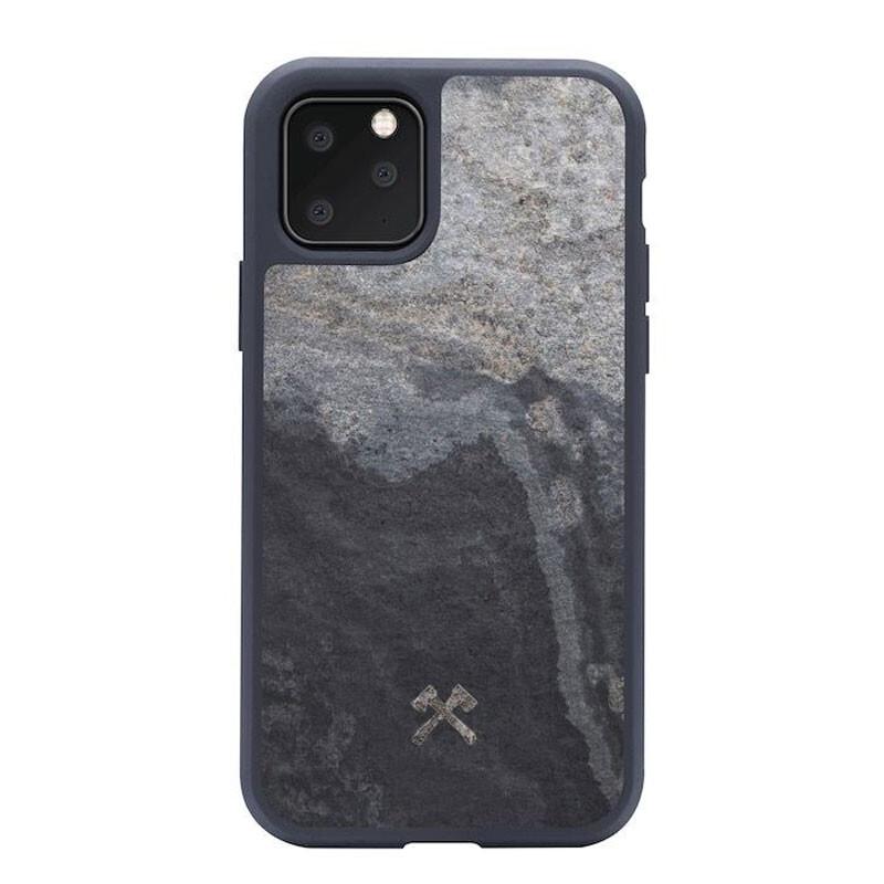 Чехол из натурального камня Woodcessories Bumper Case Stone Camo Gray для iPhone 11 Pro