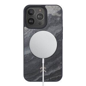 Купить Чехол из натурального камня Woodcessories Bumper Case Camo Grey MagSafe для iPhone 13 Pro Max