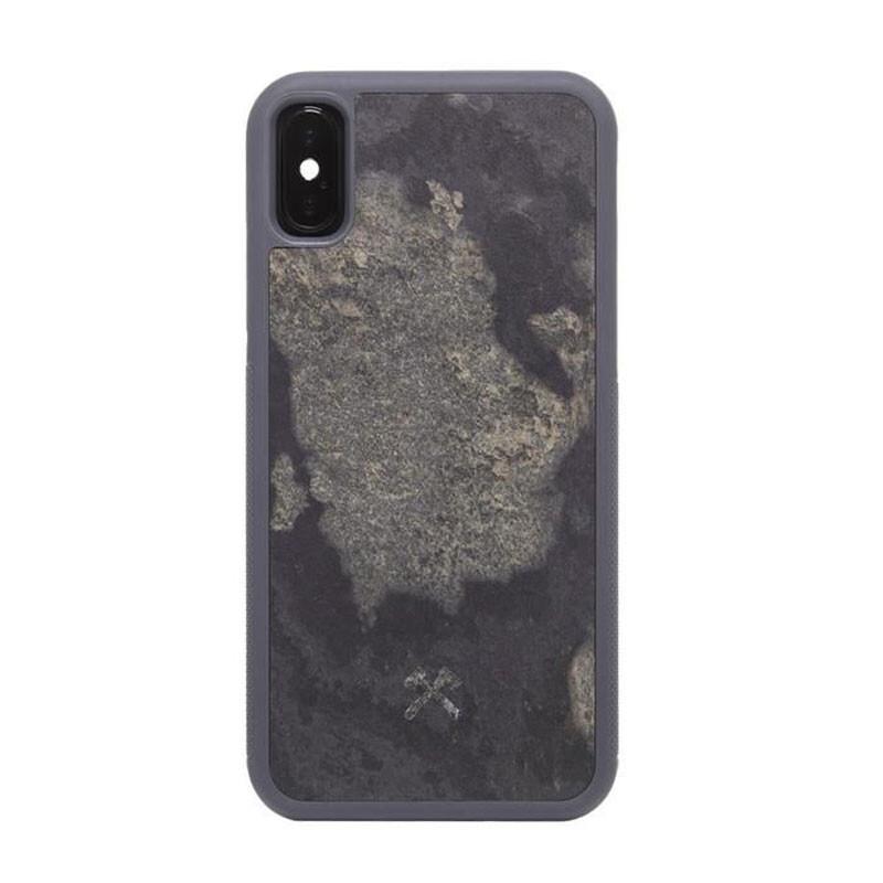 Чехол из натурального камня Woodcessories Bumper Case Stone Camo Gray для iPhone X   XS