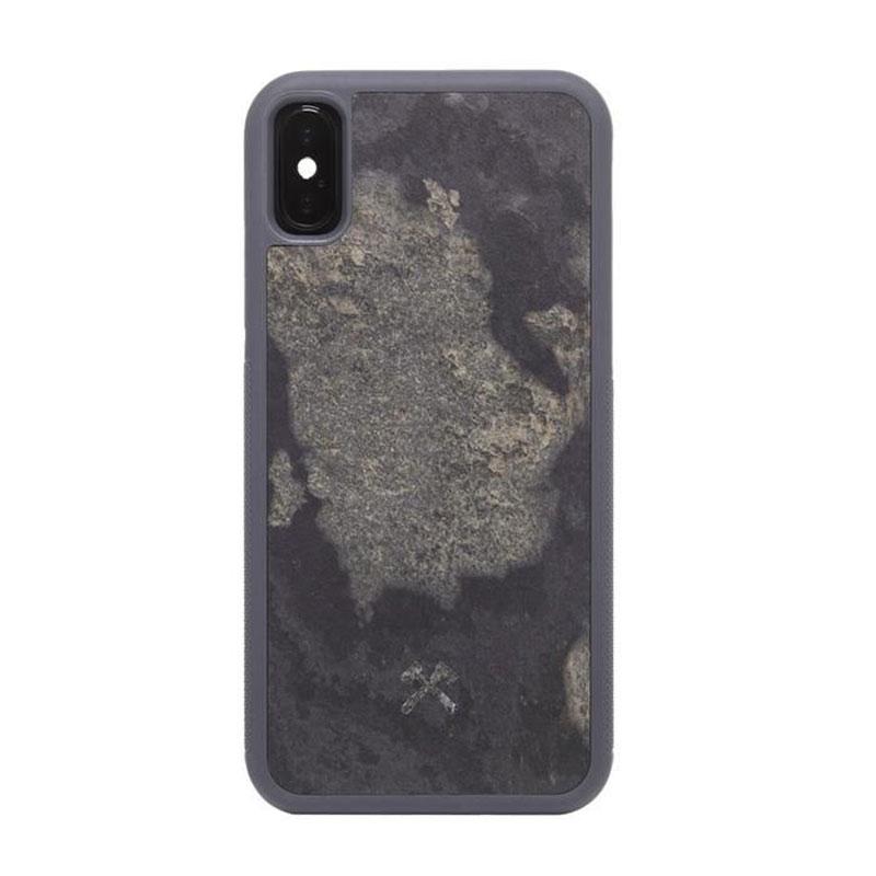 Купить Чехол из натурального камня Woodcessories Bumper Case Stone Camo Gray для iPhone X   XS