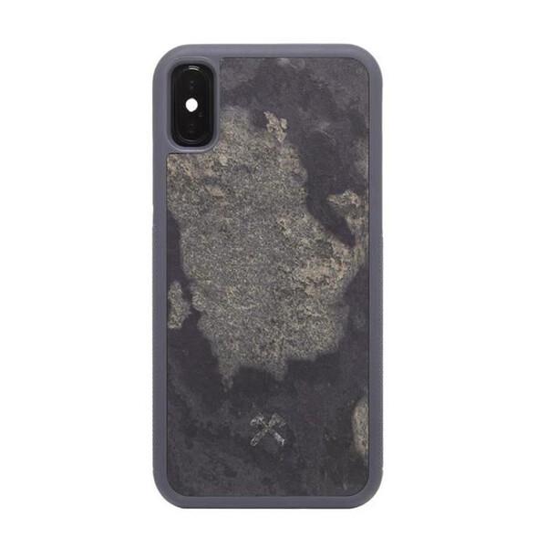 Чехол из натурального камня Woodcessories Bumper Case Stone Camo Gray для iPhone X | XS