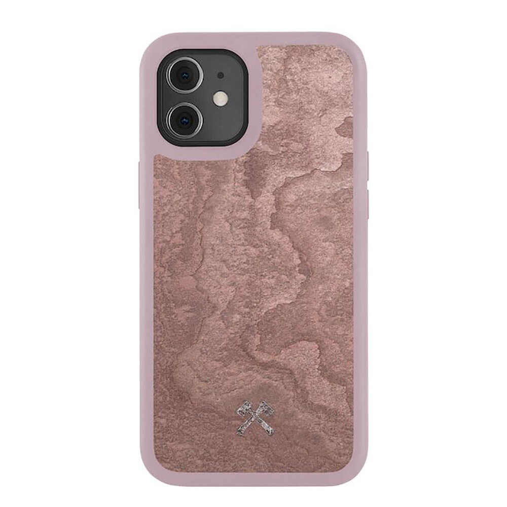 Чехол из натурального камня Woodcessories Bumper Case Stone Canyon Red для iPhone 12 mini