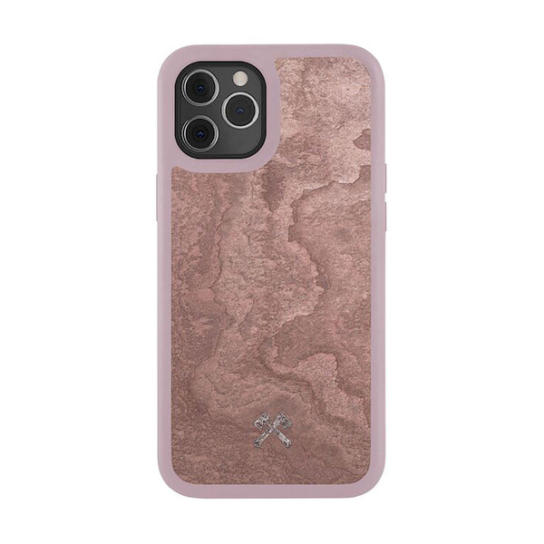 Чехол из натурального камня Woodcessories Bumper Case Stone Canyon Red для iPhone 12 | 12 Pro