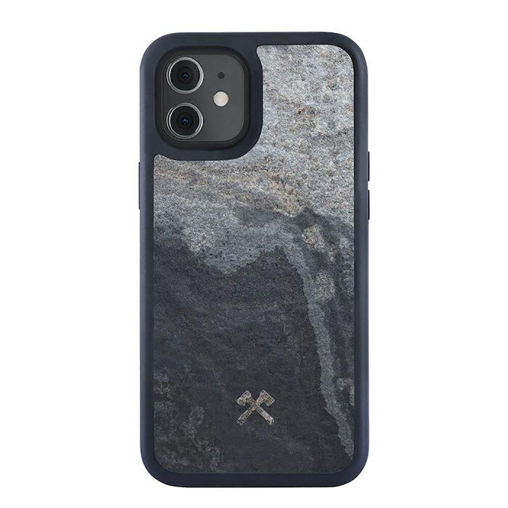 Купить Чехол из натурального камня Woodcessories Bumper Case Stone Camo Gray для iPhone 12 mini