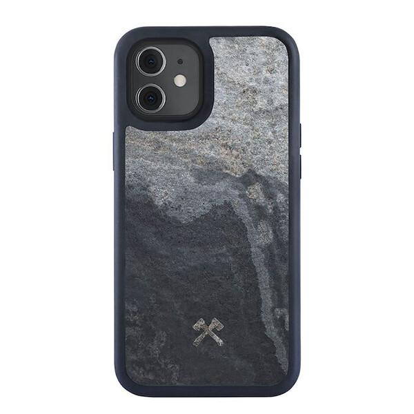 Чехол из натурального камня Woodcessories Bumper Case Stone Camo Gray для iPhone 12 mini