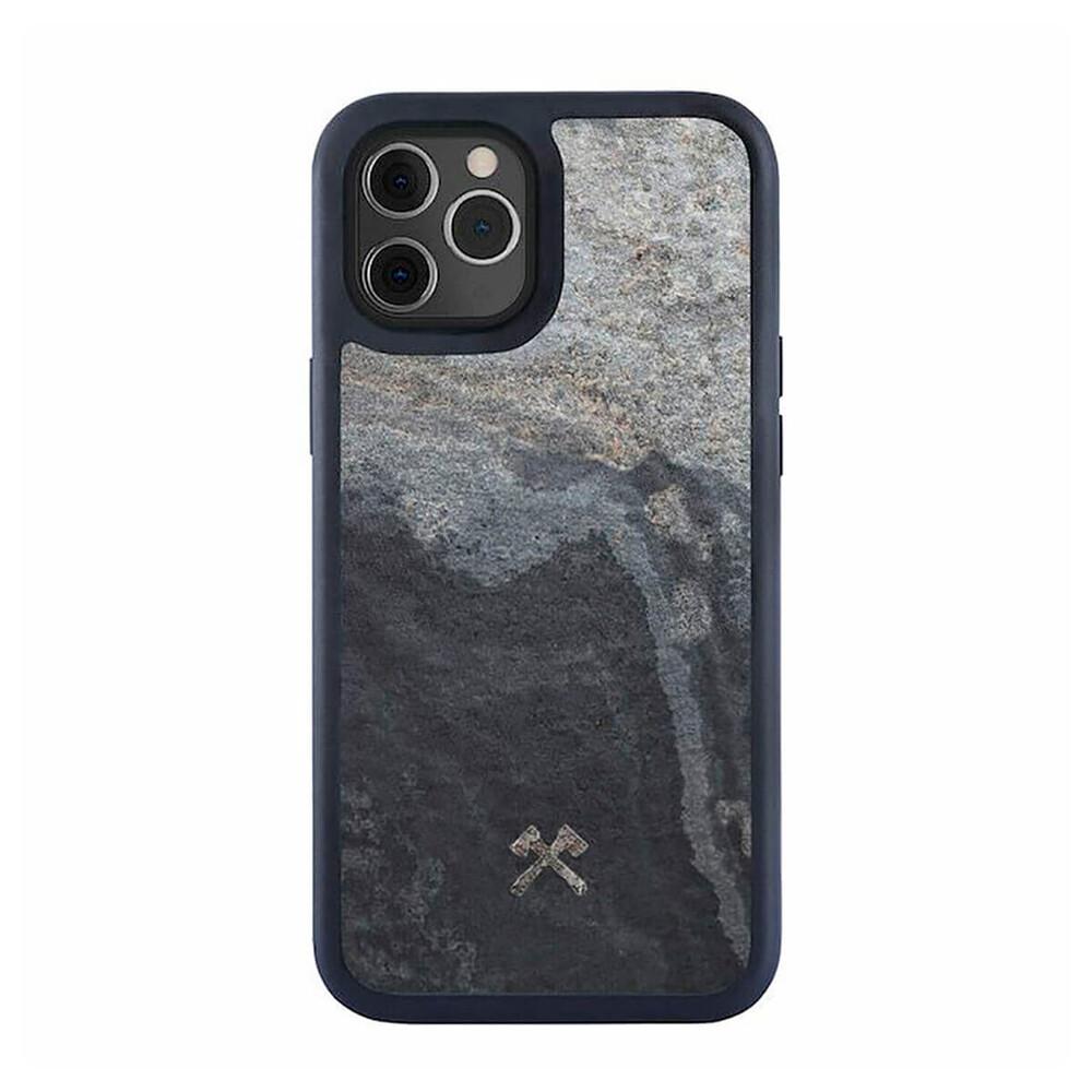 Чехол из натурального камня Woodcessories Bumper Case Stone Camo Gray для iPhone 12 Pro Max