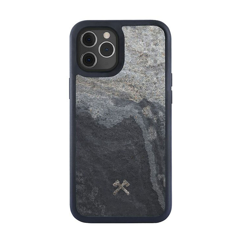 Купить Чехол из натурального камня Woodcessories Bumper Case Stone Camo Gray для iPhone 12   12 Pro
