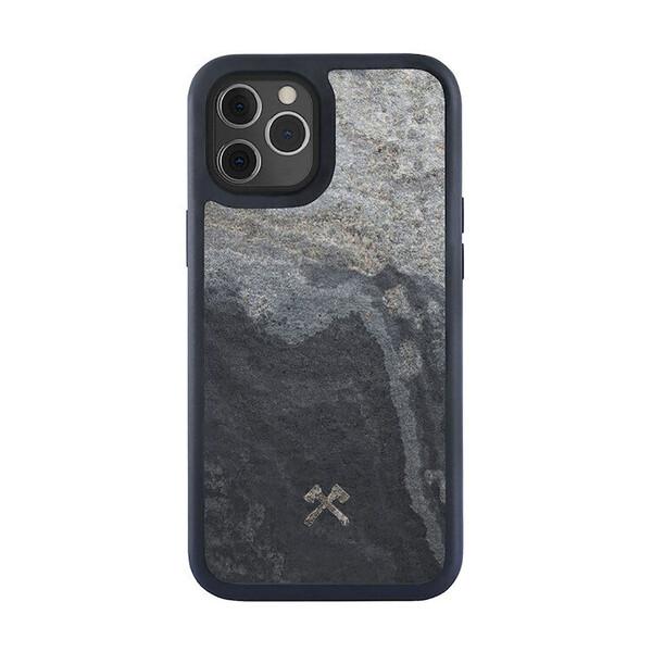 Чехол из натурального камня Woodcessories Bumper Case Stone Camo Gray для iPhone 12 | 12 Pro