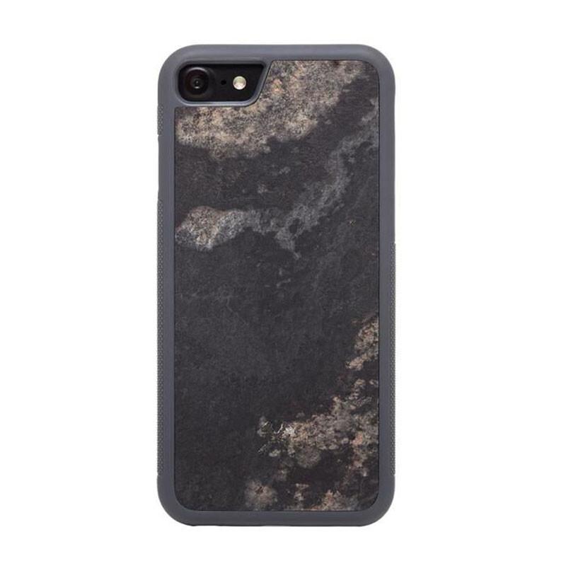 Чехол из натурального камня Woodcessories Bumper Case Stone Camo Gray для iPhone 7   8   SE 2020