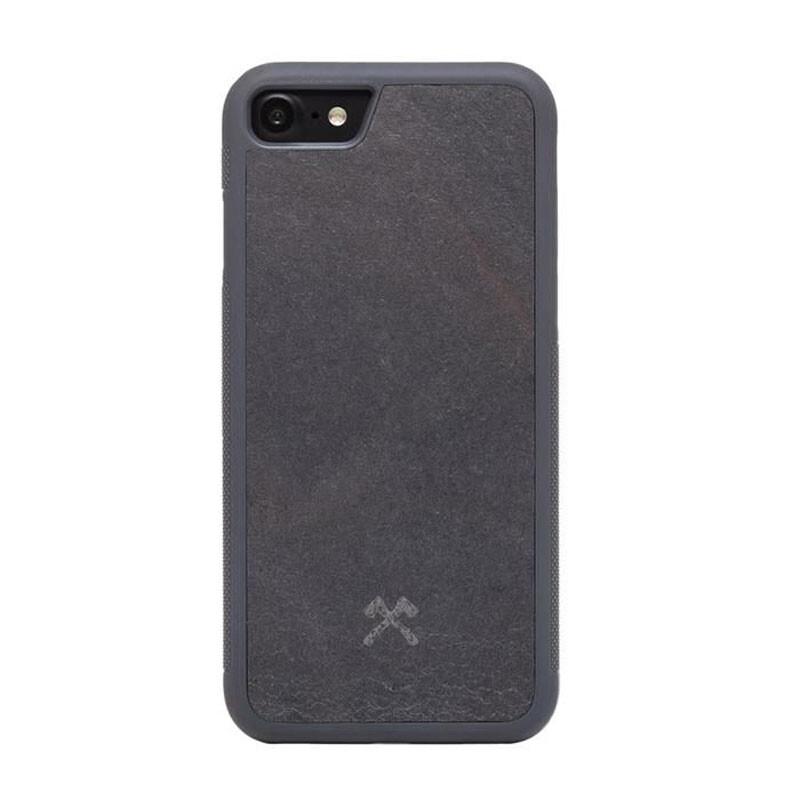 Чехол из натурального камня Woodcessories Bumper Case Stone Volcano Black для iPhone 7 | 8 | SE 2020