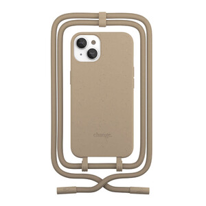 Купить Эко-чехол Woodcessories Crossbody Case Taupe Brown для iPhone 13