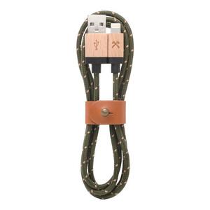 Купить Нейлоновый кабель из натурального дерева Woodcessories EcoCable Lightning to USB Green   Brown 1.2m