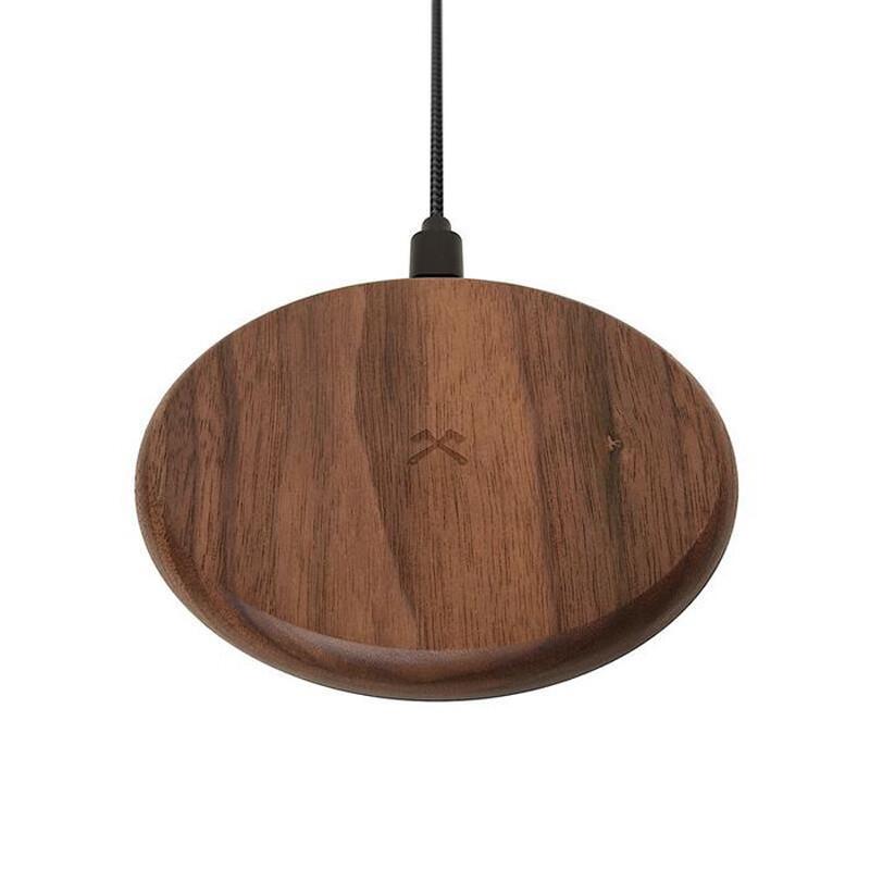 Беспроводная зарядка из дерева Woodcessories EcoPad Walnut для iPhone   Samsung   AirPods
