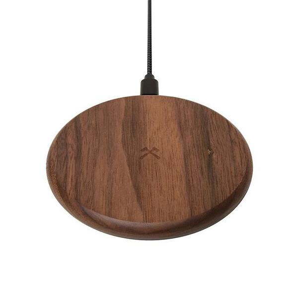 Беспроводная зарядка из дерева Woodcessories EcoPad Walnut для iPhone | Samsung | AirPods